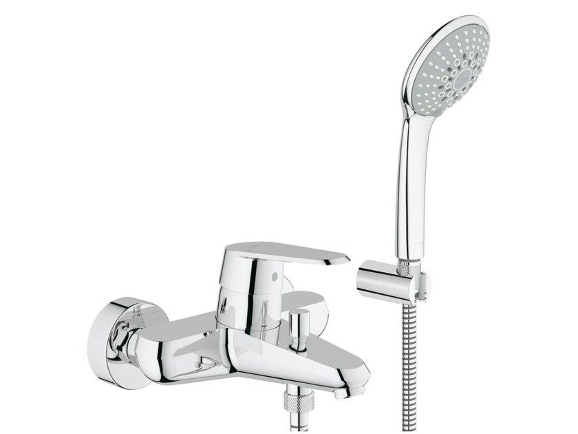 Wall-mounted bathtub/shower mixer with diverter EURODISC COSMOPOLITAN | Bathtub mixer with hand shower - Grohe