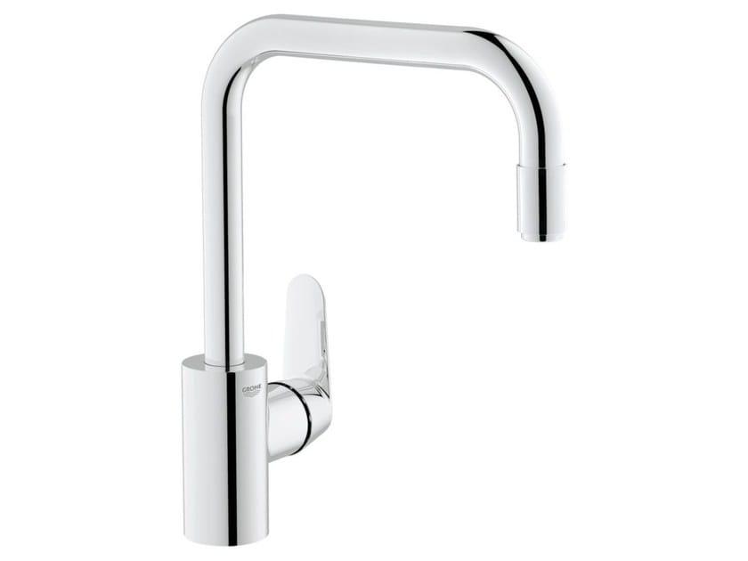 Countertop 1 hole kitchen mixer tap with swivel spout EURODISC COSMOPOLITAN | Kitchen mixer tap with aerator - Grohe