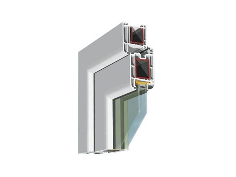 Porta d'ingresso in PVC per esterno con pannelli in vetro EUROFUTUR - PIVA GROUP