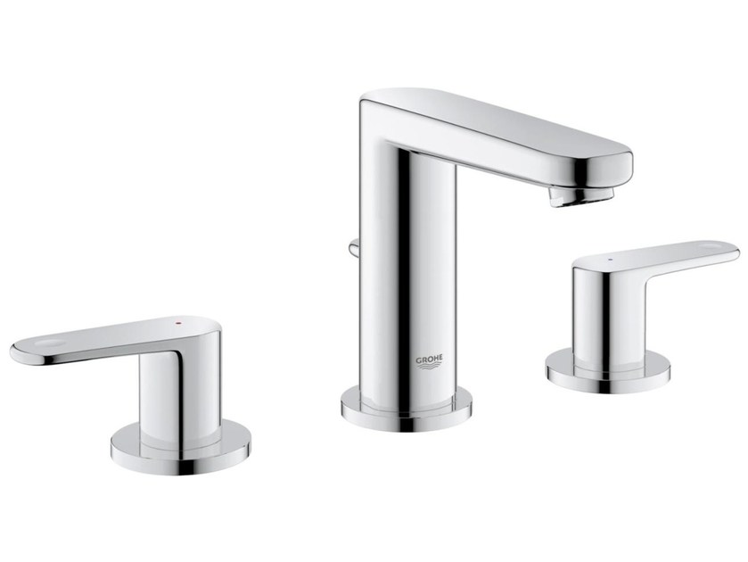 3 hole countertop washbasin tap with pop up waste EUROPLUS C SIZE S | Washbasin tap by Grohe