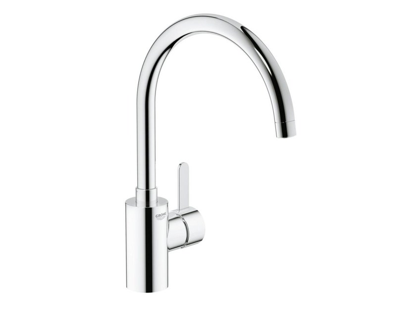 Countertop 1 hole kitchen mixer tap with flow limiter EUROSMART COSMOPOLITAN | Kitchen mixer tap with swivel spout - Grohe
