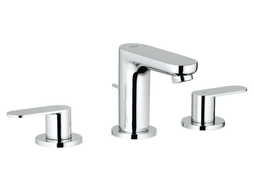 3 hole washbasin tap with pop up waste with individual rosettes EUROSMART COSMOPOLITAN SIZE S | Washbasin tap by Grohe