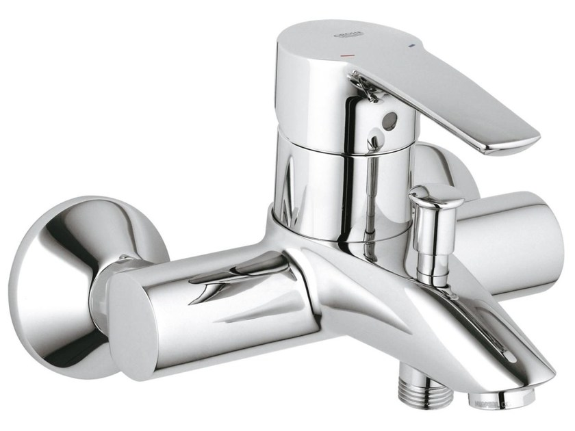 Wall-mounted single handle bathtub/shower mixer EUROSTYLE | 2 hole bathtub mixer by Grohe