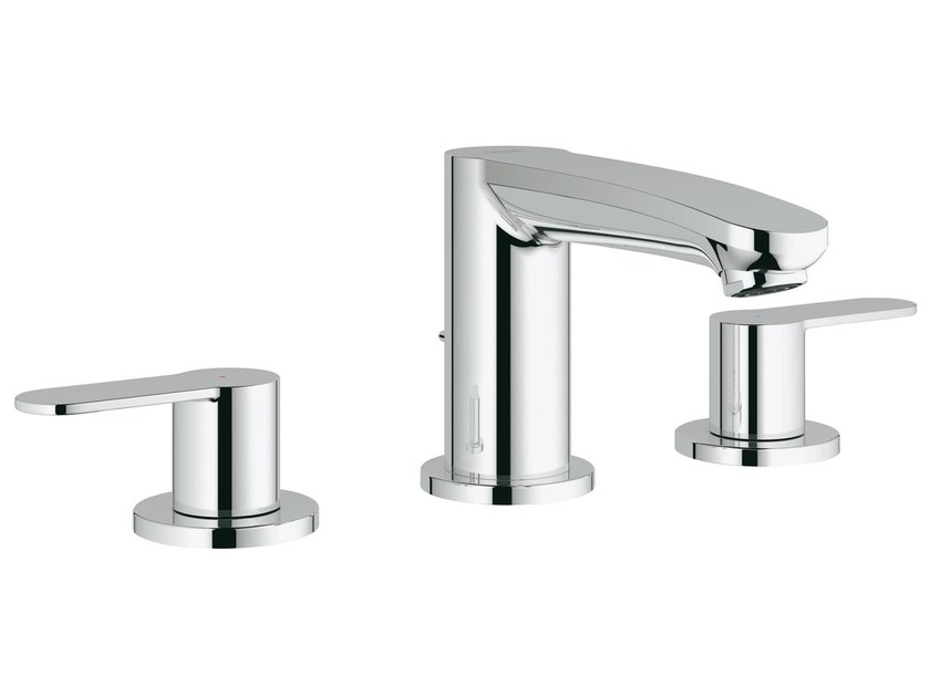 3 hole countertop washbasin tap with pop up waste EUROSTYLE COSMOPOLITAN | 3 hole washbasin tap by Grohe