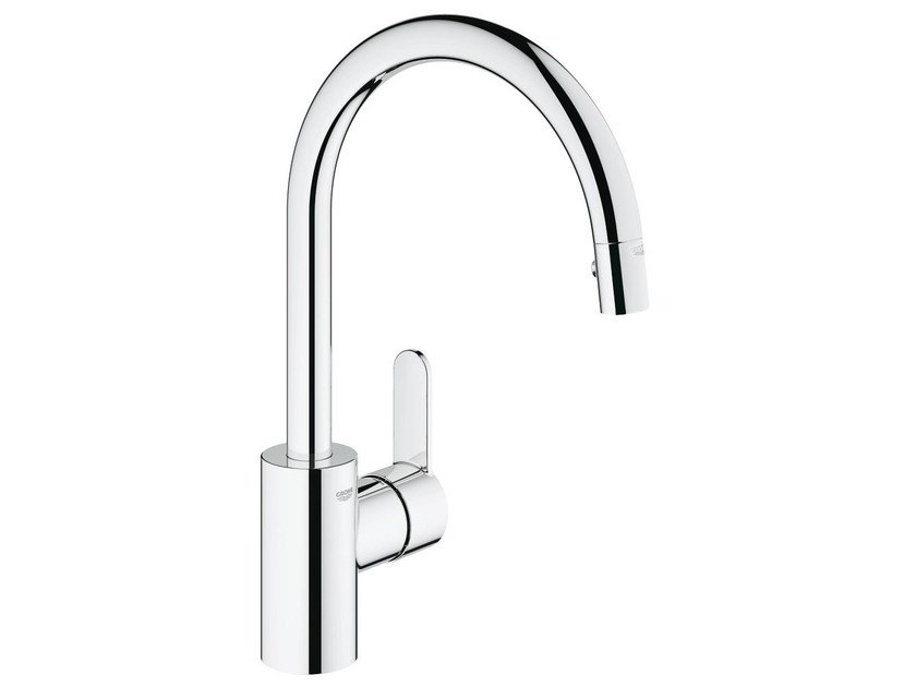 Countertop 1 hole kitchen mixer tap with swivel spout EUROSTYLE COSMOPOLITAN | Kitchen mixer tap with aerator by Grohe