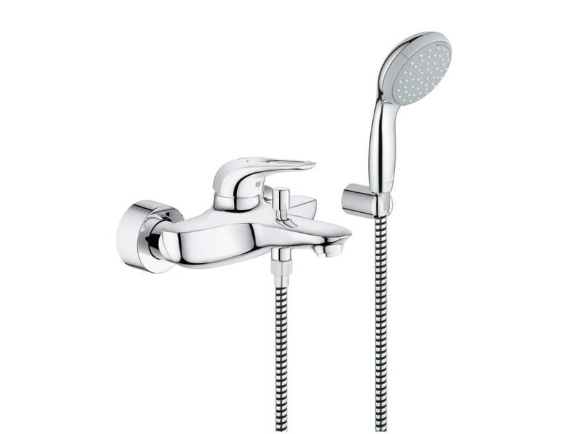 2 hole single handle shower/bathub mixer EUROSTYLE | Shower mixer with hand shower by Grohe