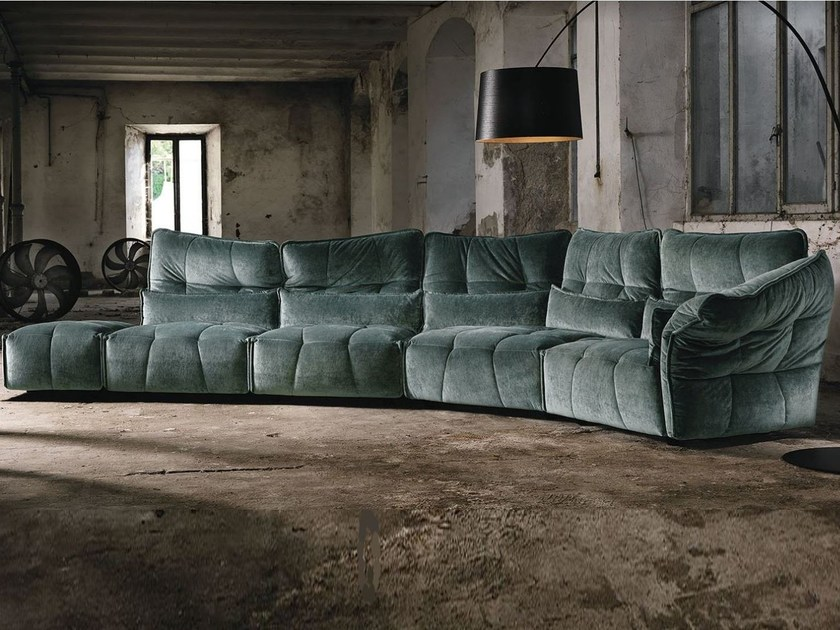 Sectional fabric sofa EVER by Max Divani