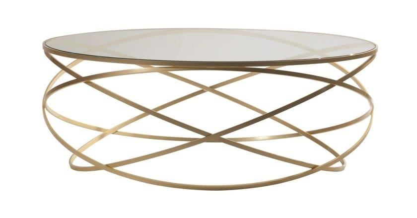 Table basse ronde en acier et verre evol by roche bobois design c dric ragot - Roche bobois tables basses ...