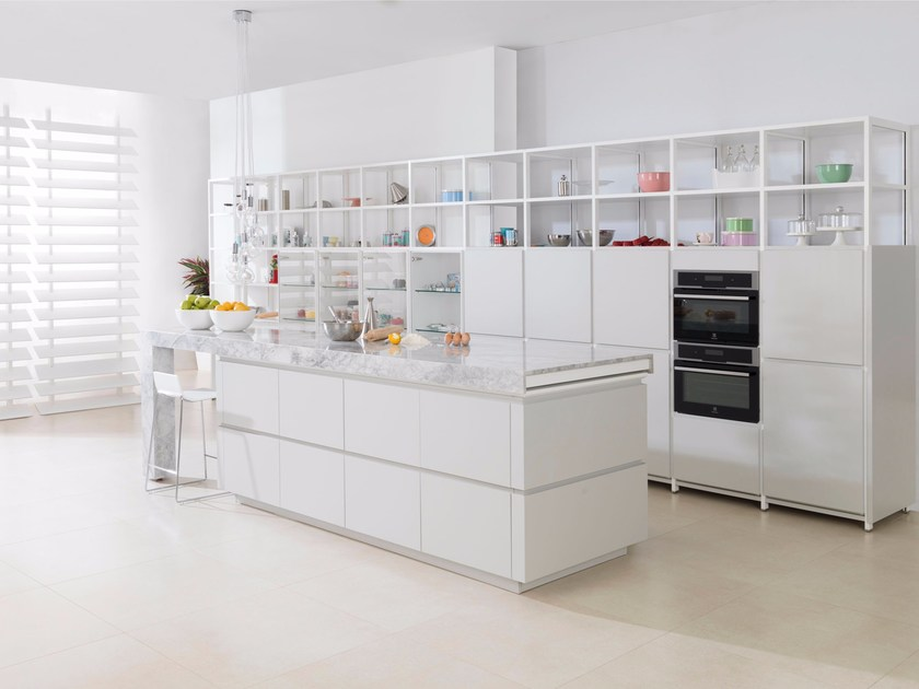 Fitted kitchen with island EVOLUTION E4.90 - Gamadecor