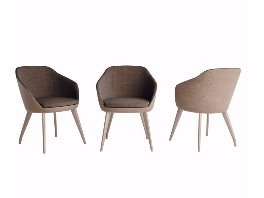 Fabric chair with armrests EXAGON | Fabric chair - Caroti