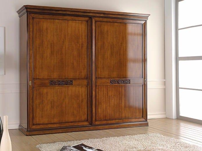 Wooden wardrobe with sliding doors EXCLUSIVE | Wardrobe with sliding doors - Arvestyle