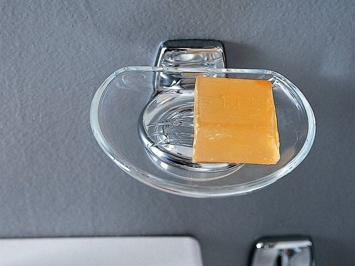 Wall-mounted glass soap dish EXPORT | Glass soap dish by INDA®