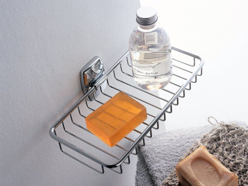 Wall-mounted metal soap dish EXPORT | Wall-mounted soap dish - INDA®