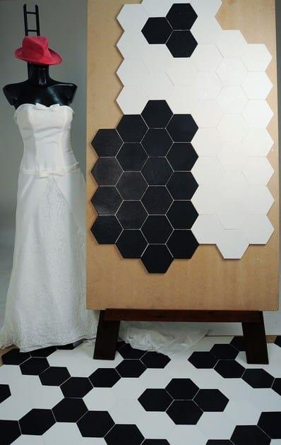 Glazed stoneware wall tiles / flooring EXTRÒ - Self Style