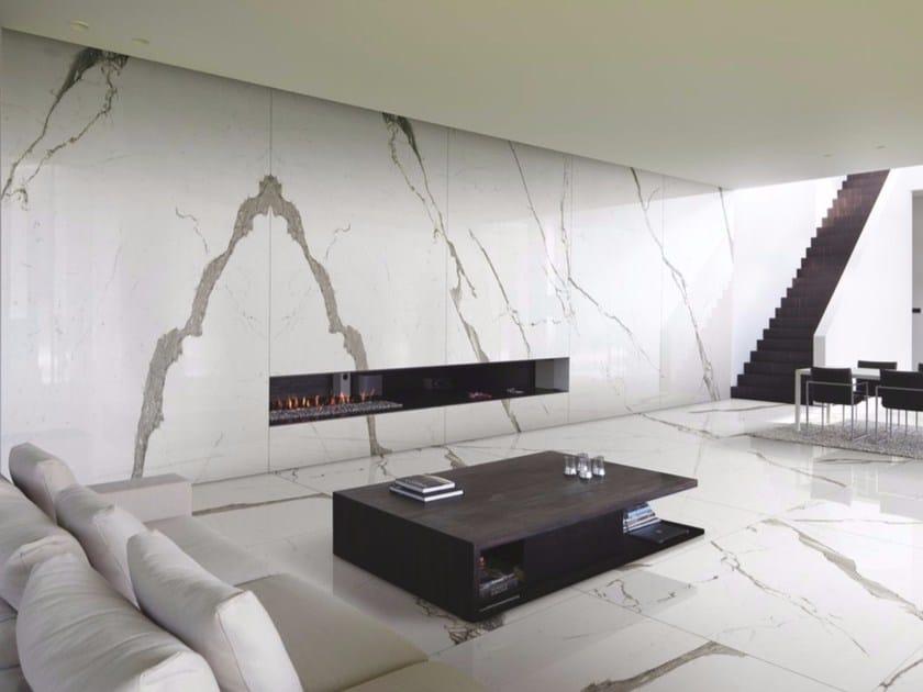 Pavimento/rivestimento in gres porcellanato effetto marmo per interni ed esterni EXTRA WHITE | Pavimento/rivestimento - FMG Fabbrica Marmi e Graniti