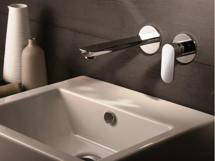 Wall-mounted single handle washbasin mixer without waste EXTRO | Single handle washbasin mixer - NEWFORM