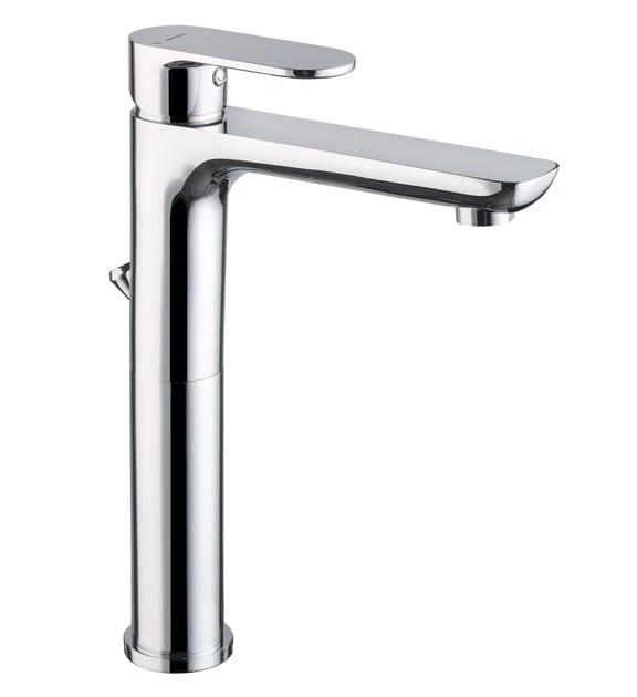 Miscelatore per lavabo cromo da piano con piletta EXTRO   Miscelatore per lavabo con piletta - NEWFORM