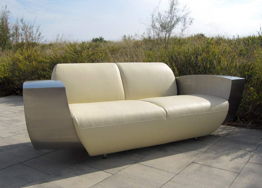 3 seater leather sofa EASY ONE XL - ICI ET LÀ