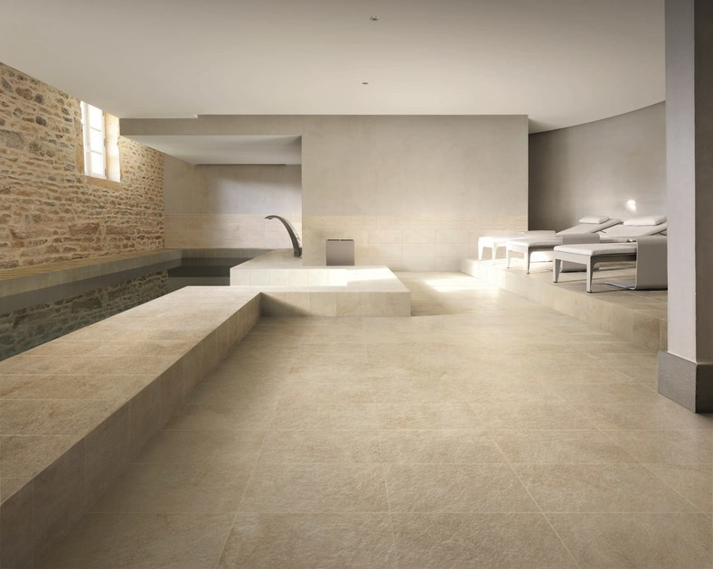 Porcelain stoneware wall/floor tiles with stone effect EIKON GEA by Ceramiche Caesar