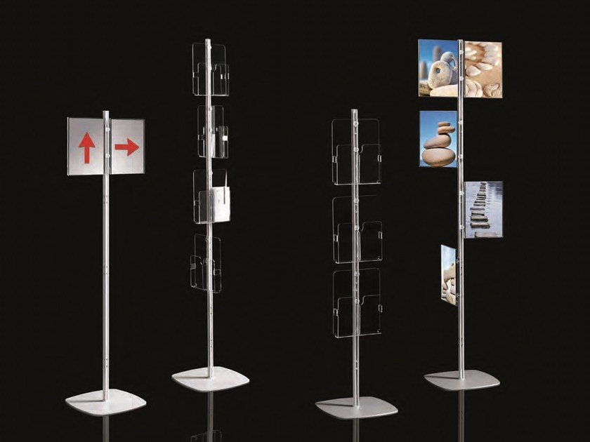 Display unit for brochures ARIANNA TOTEM by Caimi Brevetti