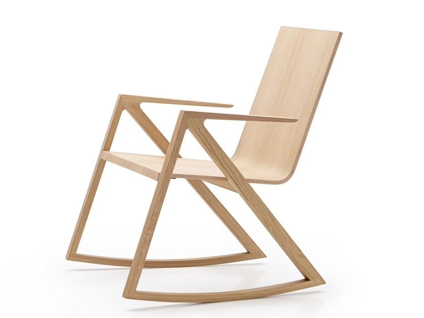 Rocking chair with armrests FÉLIX | Rocking chair - PER/USE