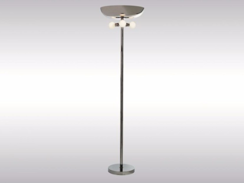 Indirect light brass floor lamp FABODESTRA - Woka Lamps Vienna