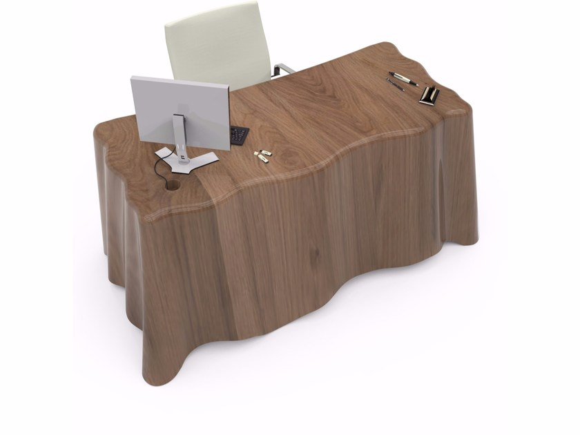 Lacquered Adamantx® workstation desk with drawers FABRIC - ZAD ITALY
