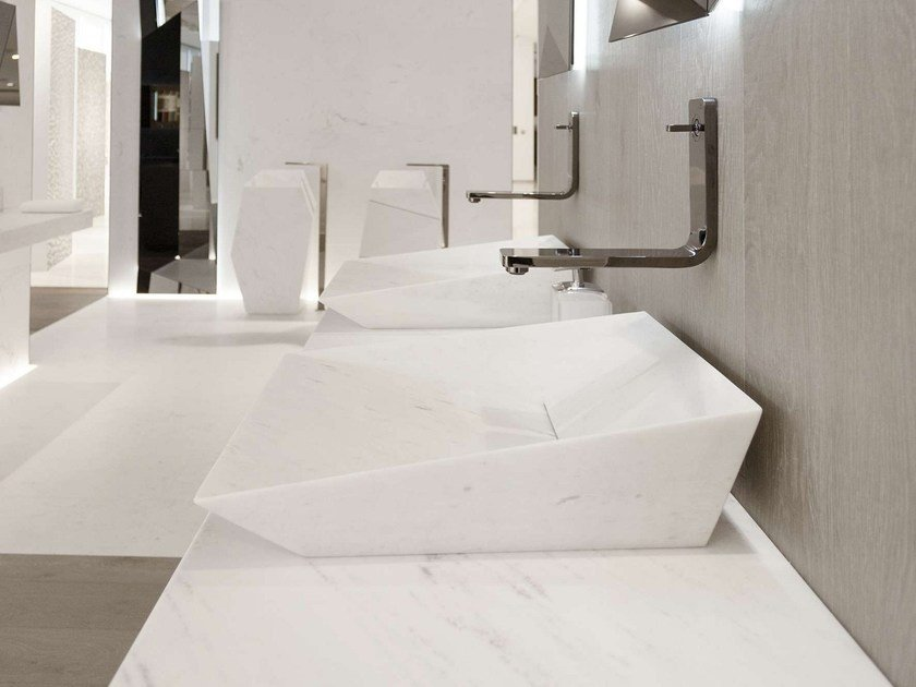 Countertop rectangular natural stone washbasin FACES | Countertop washbasin - L'Antic Colonial
