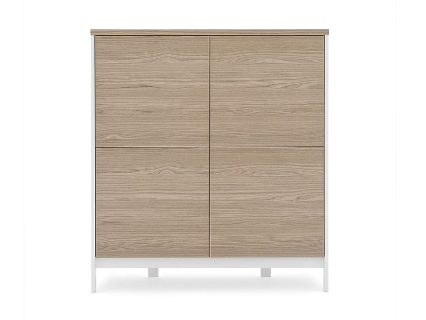 Contemporary style wood-product highboard with doors FACTORY | Highboard - Calligaris