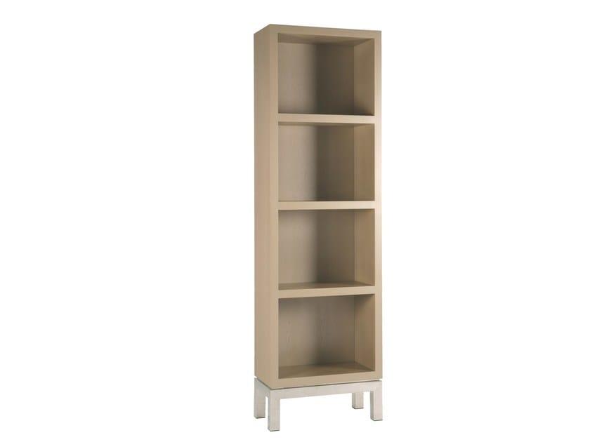 Open lacquered MDF bookcase FALÉSIA - Branco sobre Branco