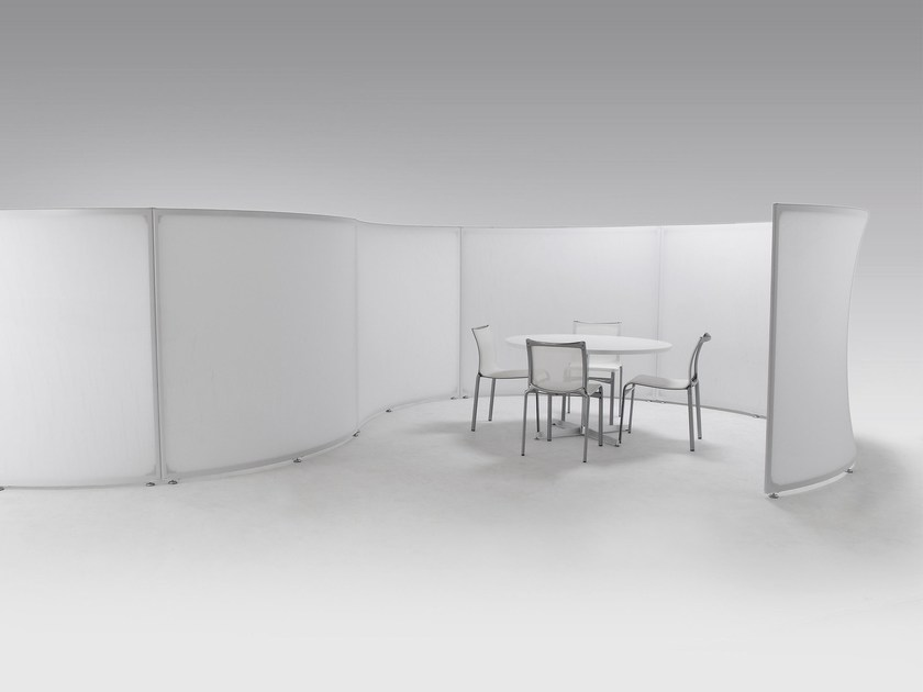 Fabric room divider / workstation screen FALCE - Morita Aluminum Industry