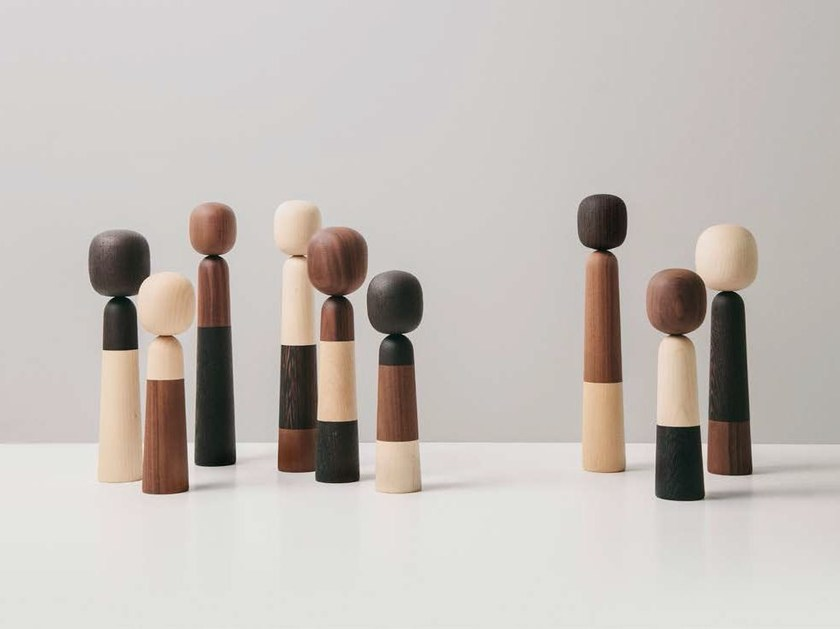 Wooden decorative object FAMILY by arper