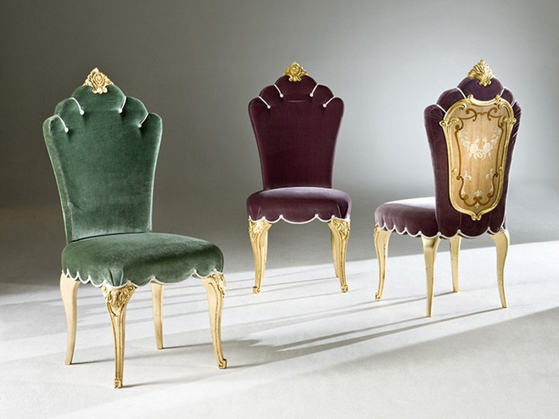 Upholstered fabric chair FARNESE - Rozzoni Mobili d'Arte