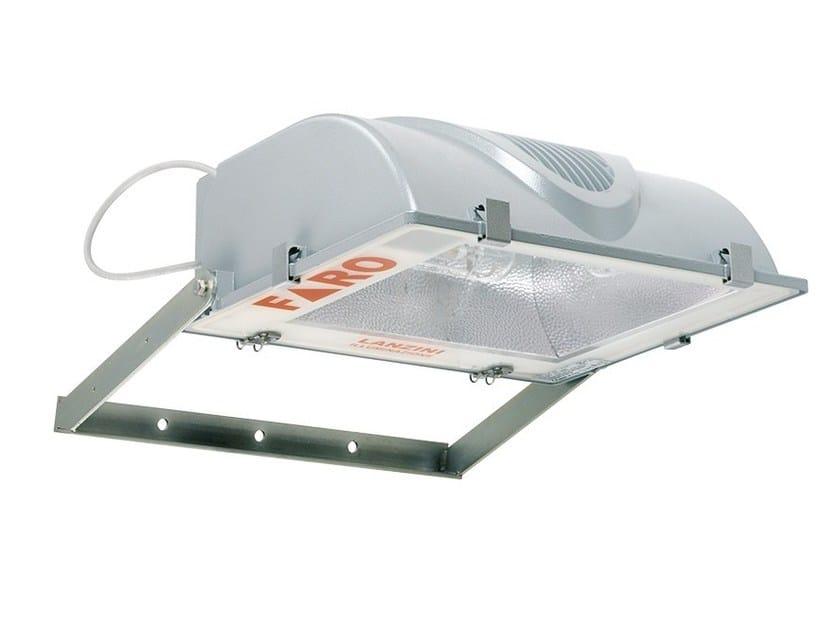 Adjustable die cast aluminium Outdoor floodlight FARO by LANZINI