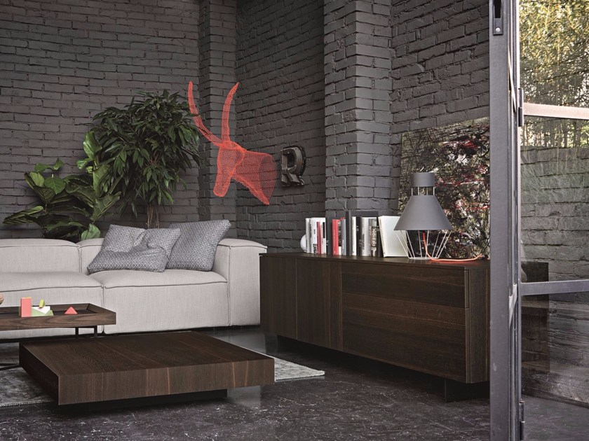 Oak sideboard with doors with drawers FASHION | Oak sideboard by Dall'Agnese
