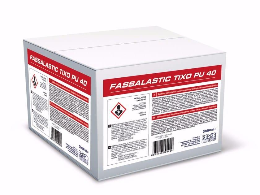 Polyurethane sealant FASSALASTIC TIXO PU 40 by FASSA