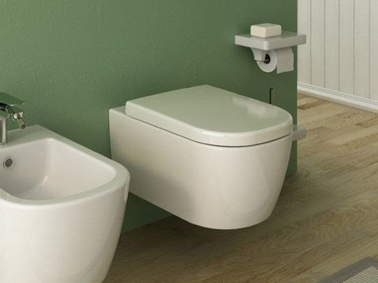 Wall-hung ceramic toilet FASTER | Wall-hung toilet by Hidra Ceramica