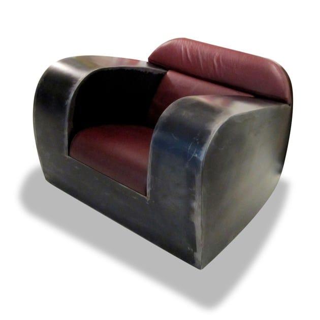 Metal armchair with armrests FAT ASS - ICI ET LÀ