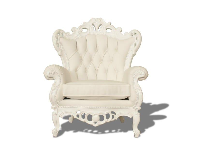Garden armchair with armrests FAT LUIGI - POLaRT