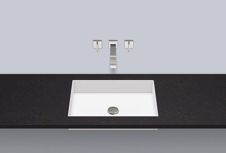 Flush built-in basin from glazed steel FB.ME500 - ALAPE