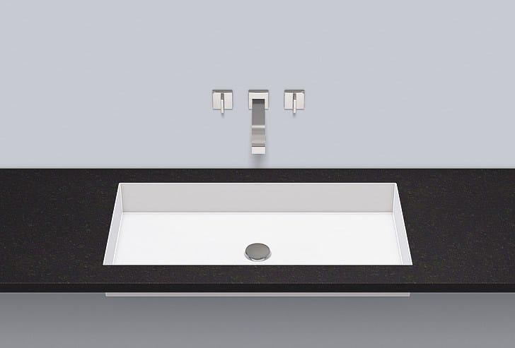 Flush built-in basin from glazed steel FB.ME750 - ALAPE