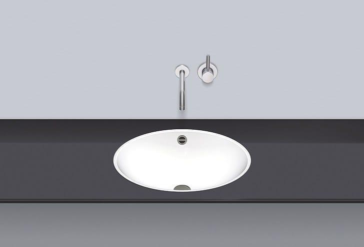 Flush built-in basin from glazed steel FB.O525 - ALAPE