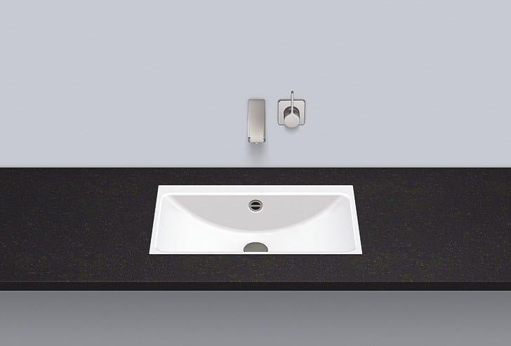 Flush built-in basin from glazed steel FB.R585.3 - ALAPE