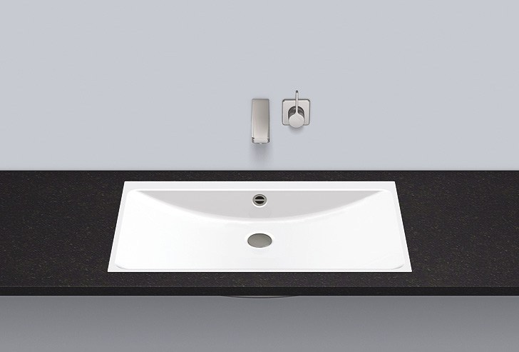 Flush built-in basin from glazed steel FB.R800.3 - ALAPE
