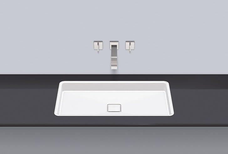 Flush built-in basin from glazed steel FB.RE700.4 - ALAPE