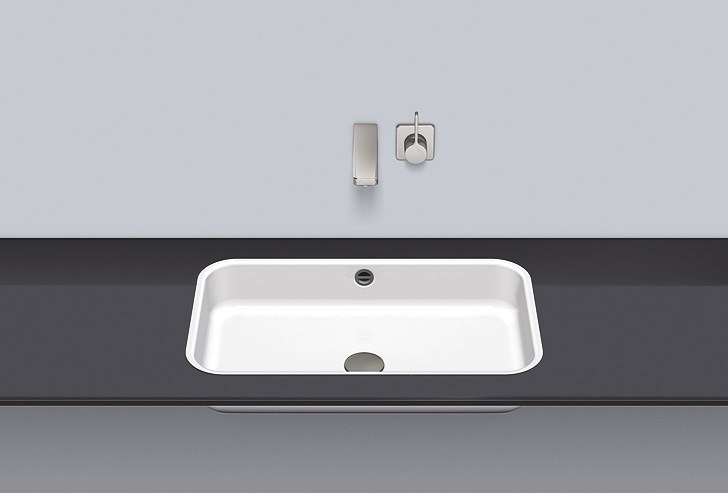 Flush built-in basin from glazed steel FB.SR650.2 - ALAPE