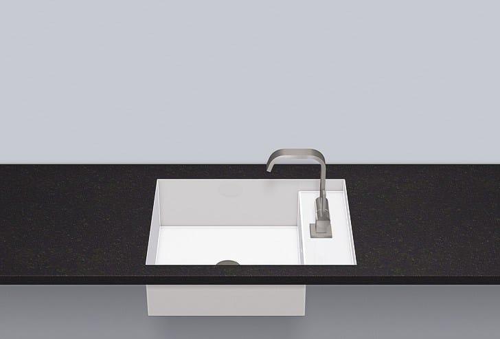 Flush built-in basin from glazed steel FB.ST525H.R - ALAPE