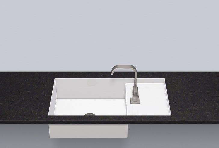 Flush built-in basin from glazed steel FB.ST700H.R - ALAPE