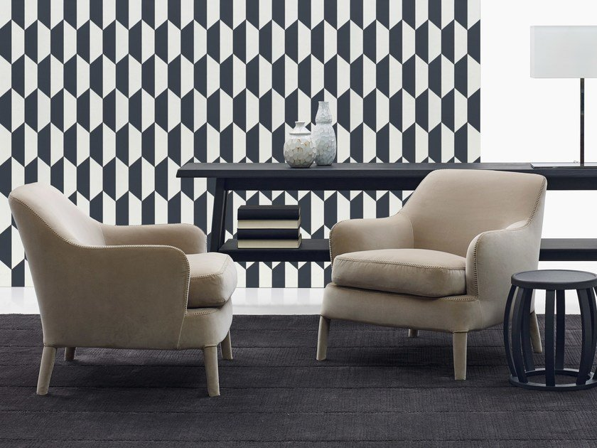 Fabric armchair with armrests FEBO | Armchair - Maxalto, a brand of B&B Italia Spa