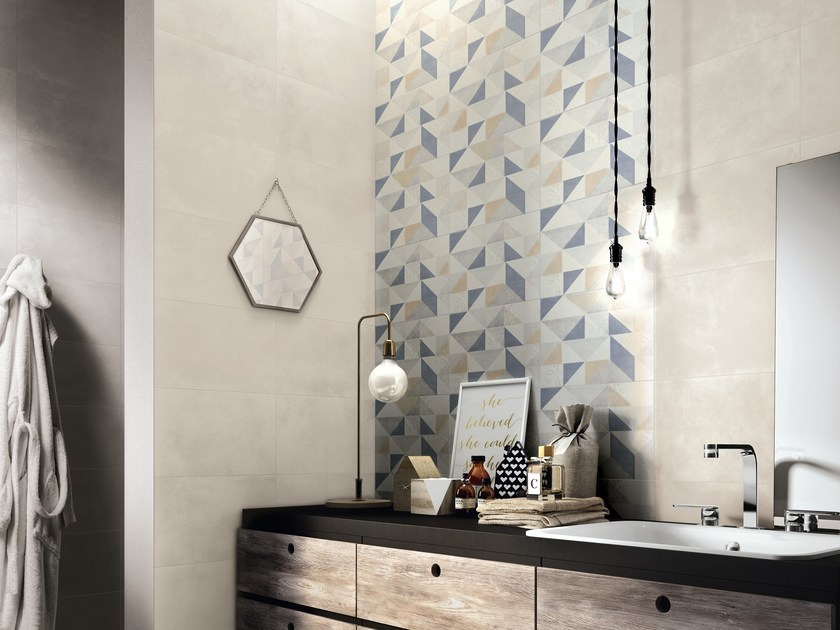 Rivestimento in ceramica a pasta bianca per interni feel ragno - Piastrelle per pareti interne ...